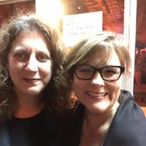 Audience was full of stellar friends of Pen Parentis - here are Marcy Dermansky and our first curator, Arlaina Tibensky!